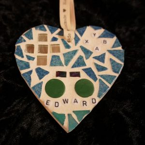 Personalised Mosaic Heart 10cm – Made to Order