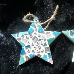 Mosaic memorial star by Gifts to Celebrate and Commemorate