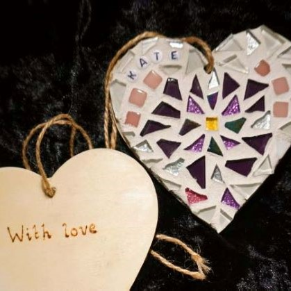 February birthday mosaic heart by Gifts to Celebrate and Commemorate