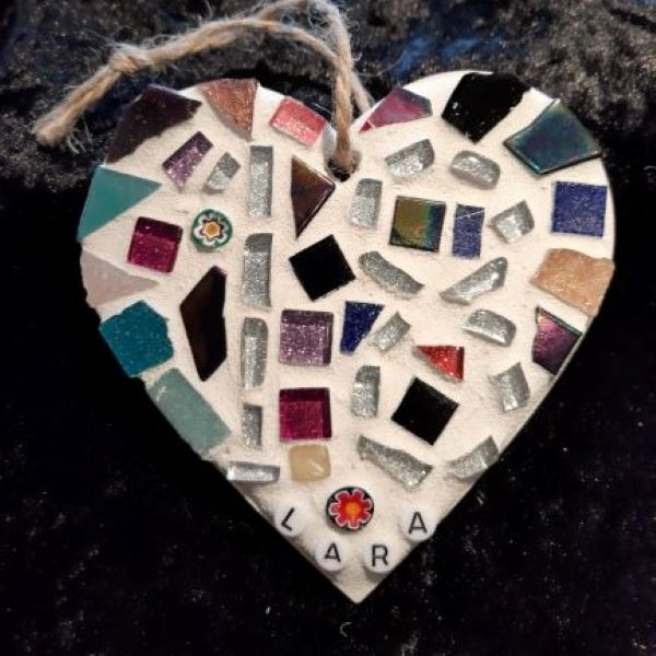 18th birthday mosaic heart by Gifts to Celebrate and Commemorate