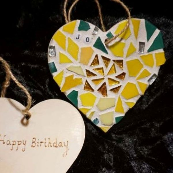 March birthday mosaic heart by Gifts to Celebrate and Commemorate