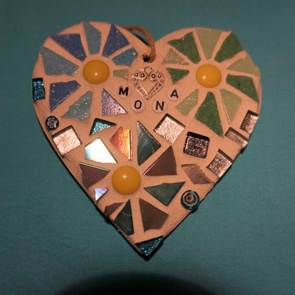 Birthday mosaic heart by Gifts to Celebrate and Commemorate