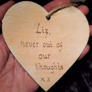 Memorial Heart 10cm – Made to Order