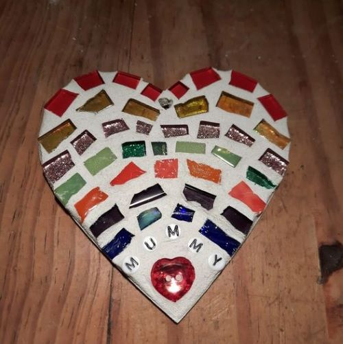 Mummy rainbow mosaic heart by Gifts to Celebrate and Commemorate