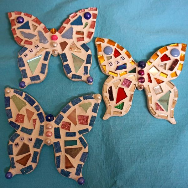 Memorial mosaic butterflies by Gifts to Celebrate and Commemorate
