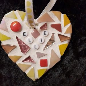 Personalised Mosaic Heart 8cm – Made to Order