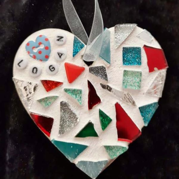Memorial mosaic heart for baby by Gifts to Celebrate and Commemorate