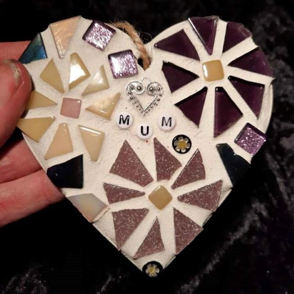 Memorial mosaic heart by Gifts to Celebrate an Commemorate