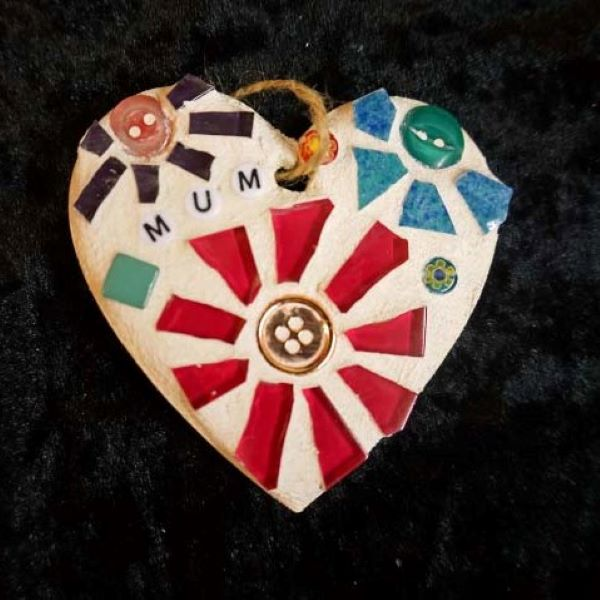 Mum personalised mosaic heart by Gifts to Celebrate and Commemorate
