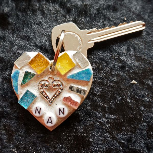Memorial mosaic keyring for nan by Gifts to Celebrate and Commemorate