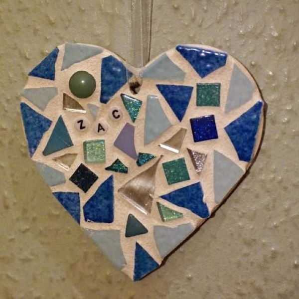 New baby mosaic heart by Gifts to Celebrate and Commemorate