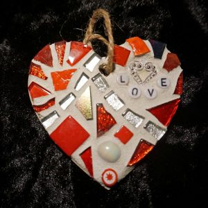 Mosaic Love Heart 8cms – Pre-made and Ready for Dispatch!