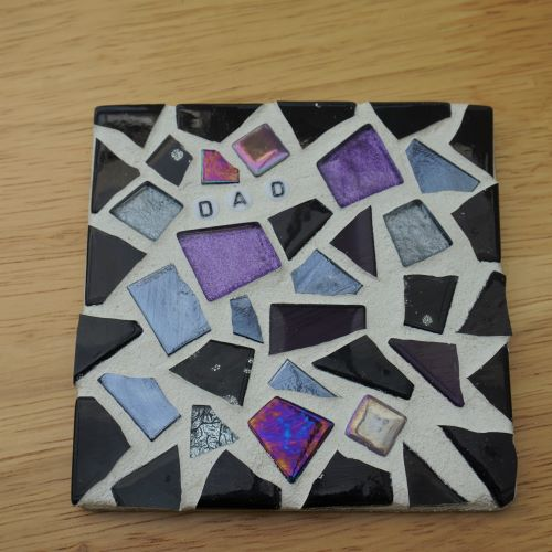 Dad personalised coaster by gifts to celebrate and commemorate