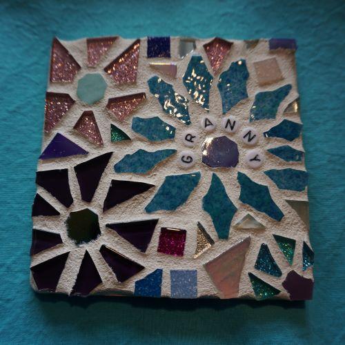 gran mosaic coaster
