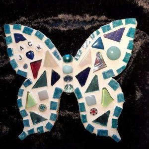 Personalised Mosaic Butterfly Fridge Magnet – Made to Order