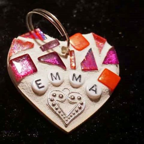 Personalised mosaic keyring by Gifts to Celebrate and Commemorate