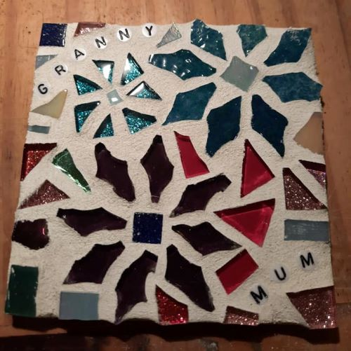 mum and granny mosaic coaster by gifts to celebrate and commemorate