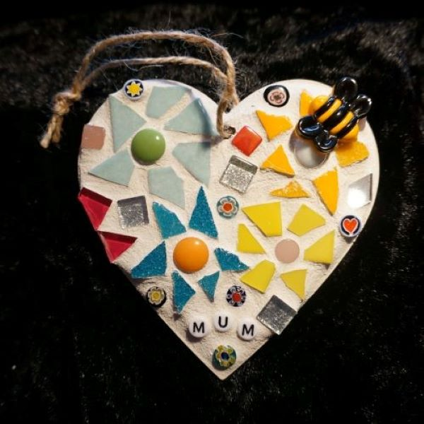 Mum mosaic heart for Mothers Day by Gifts to Celebrate and Commemorate