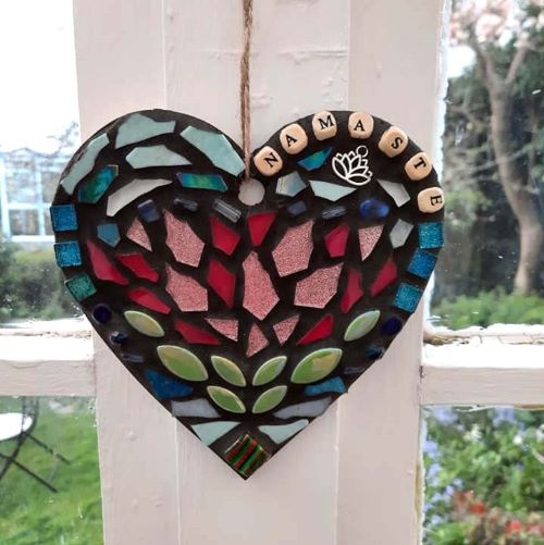 Namaste mosaic heart by Gifts to Celebrate and Commemorate