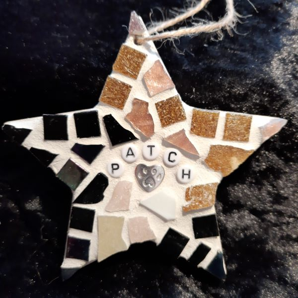 Pet memorial mosaic star by Gifts to Celebrate and Commemorate