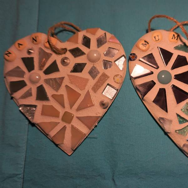 Two personalised hearts by Gifts to Celebrate and Commemorate