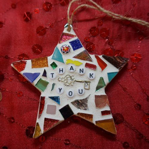 Thank you mosaic star by Gifts to Celebrate and Commemorate