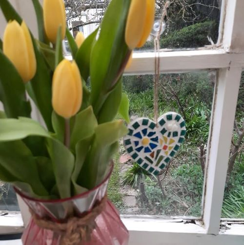 Easter mosaic heart by Gifts to Celebrate and Commemorate