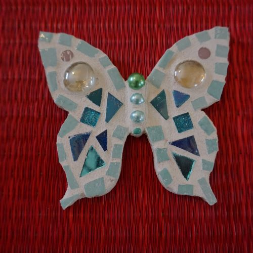 blue butterfly mosaic by gifts to celebrate and commemorate