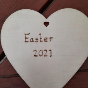Easter Mosaic Heart 10cm – Made to Order