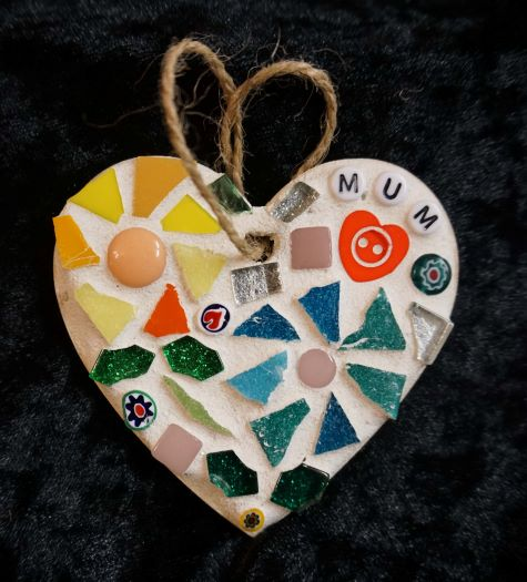 Mosaic mum heart by Gifts to Celebrate and Commemorate
