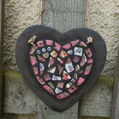Mosaic Pink Mum Heart by Gifts to Celebrate and Commemorate