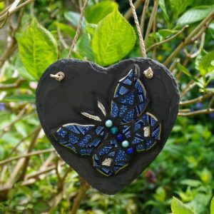 Personalised Mosaic Slate Heart – Made to Order