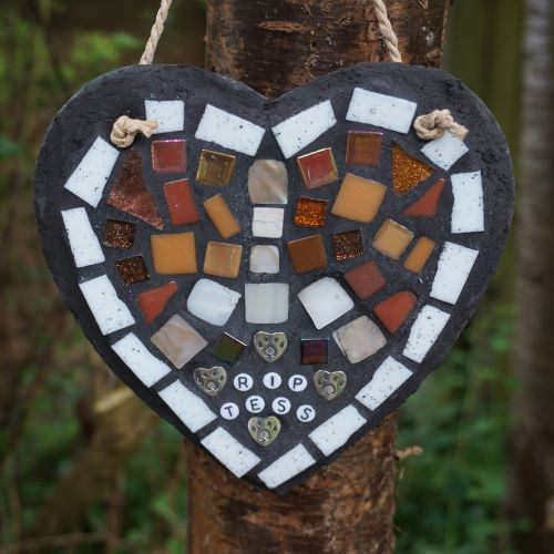 pet memorial slate heart by gifts to celebrate and commemorate